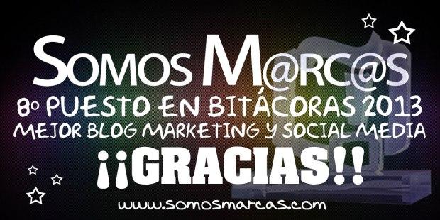 ¡Gracias a ti Somos M@rc@s ha quedado entre los 10 mejores blogs de Marketing y Social Media!